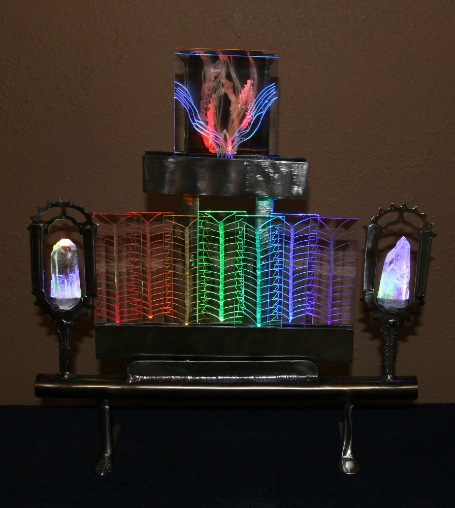 Chalice And Rainbow Light Sculpture